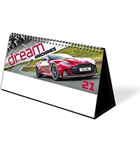 Dream Machines Premium Lined Easel Desk Calendar
