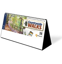 Countryside Walks Premium Lined Easel Desk Calendar