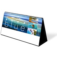 Deep Blue Premium Lined Easel Desk Calendar