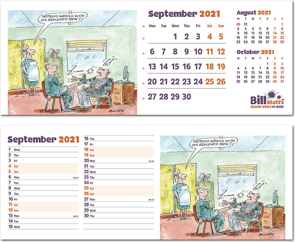 Bill Stott's Bizarre World of Work Desk Calendar