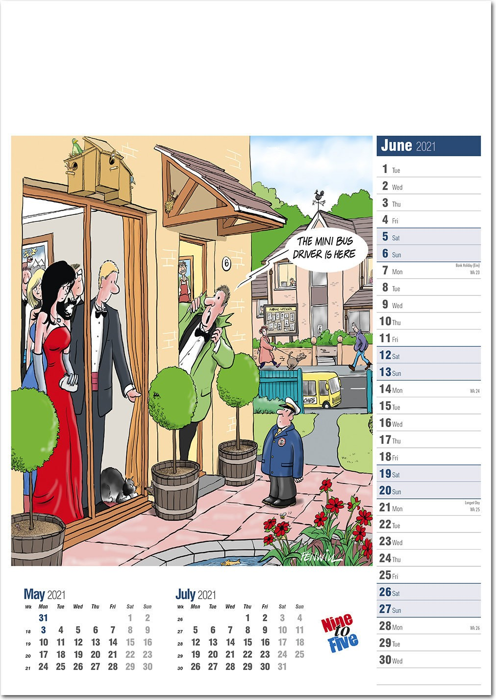 Nine to Five Calendar